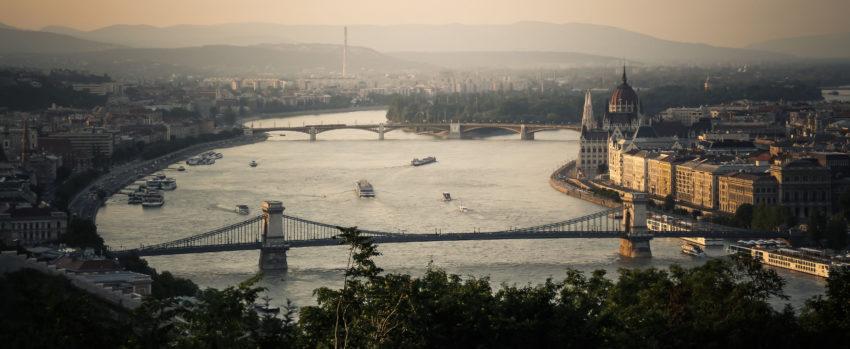 Budapest Skyline from Gellért Hill