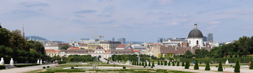 Panorama of Vienna from Belvedere