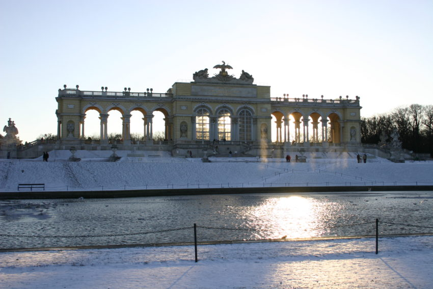 The Schonbrunn Glorietta in the Winter