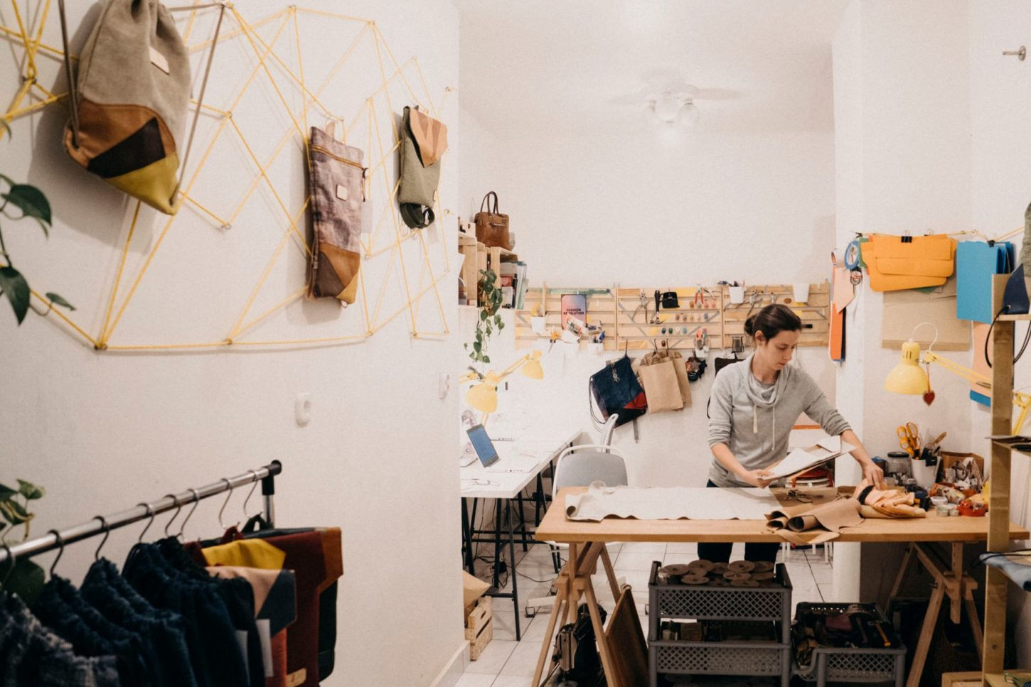 small boutique filled with design items