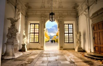 Entrance hall to Belvedere Palace.