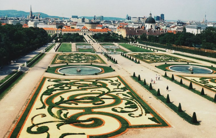The grounds of Belvedere Palace.