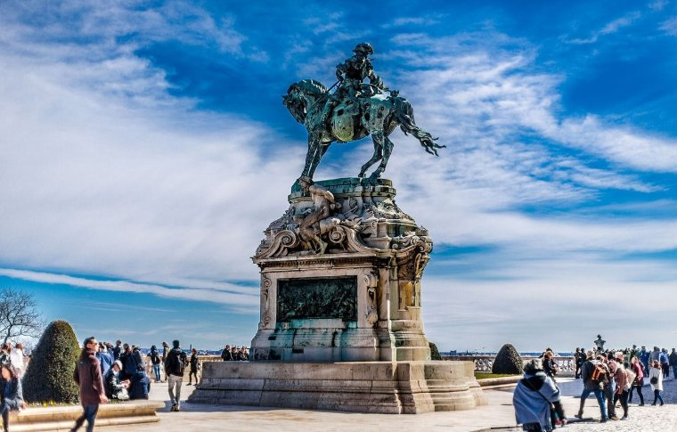military man on horse statue