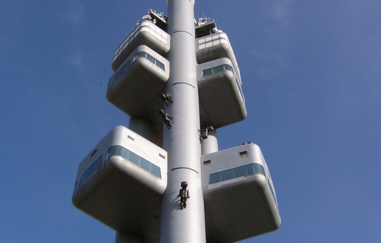 futuristic looking tower