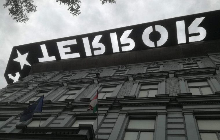 -the House of Terror, Budapest from the outside.
