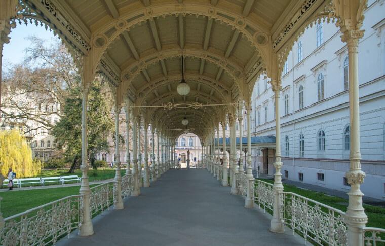 serene outdoor walkway leading to gazebo