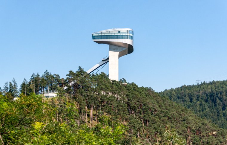 futuristic building or lookout tower