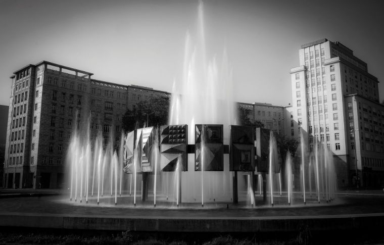 black and white photo of Berlin