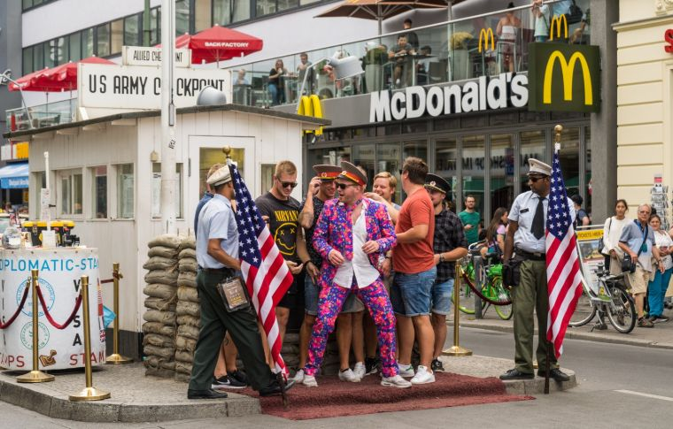 McDonolds and American flag in Berlin