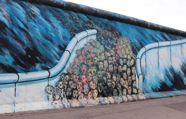 Street art on a wall in Berlin
