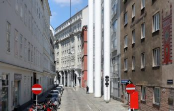 View down a street in Vienna