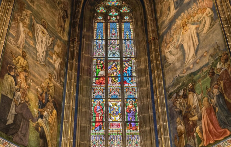 large cathedral stain glass windows