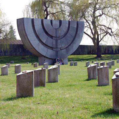 memorial statue of a menorah