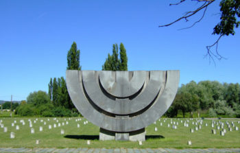 memorial statue of a menorah