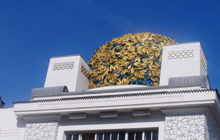 A golden dome of the Secession art museum.