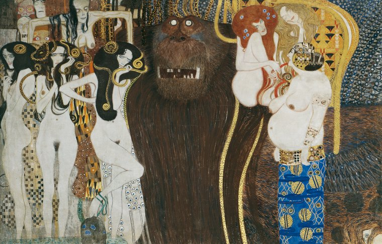 Beethoven Frieze painting by Klimt.