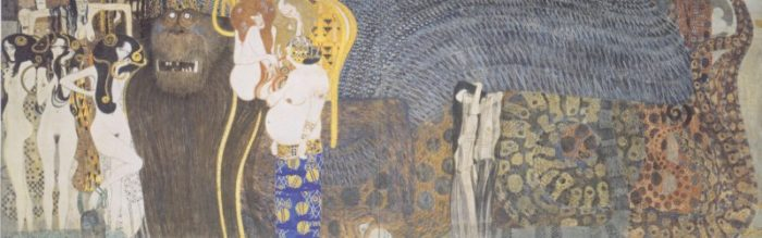 Klimt's famous Beethoven Frieze painting.